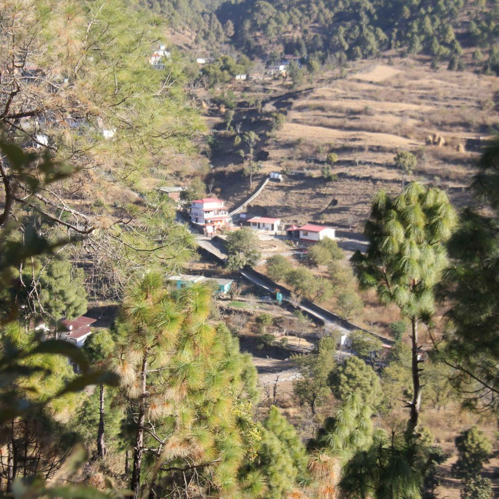 Anahad Umashakti Yogaashram view from hill side.